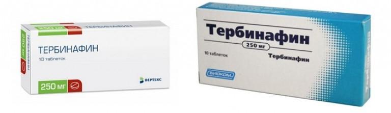 Лечение грибка ногтей на ногах тербинафином