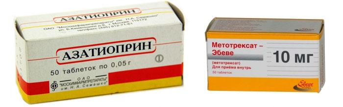 Азатиоприн и Метотрексат