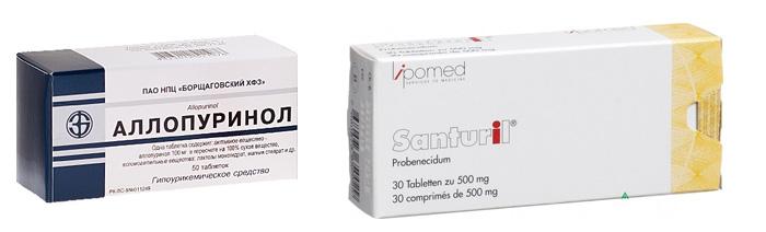 Лекарства, снижающие уровень мочевой кислоты