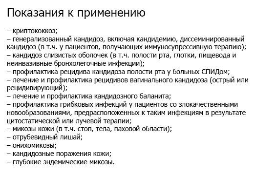 Список показаний