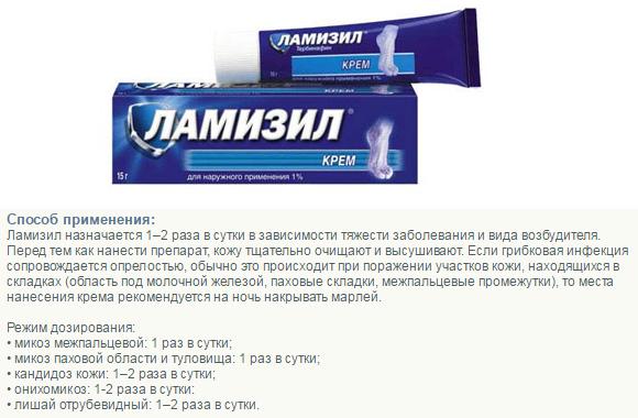 Способ применения Ламизила