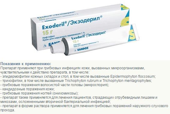 Экзодерил - показания