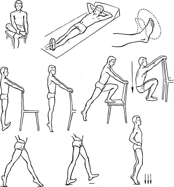 Комплекс упражнений для голеностопа
