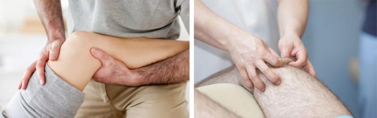 как массировать коленный сустав