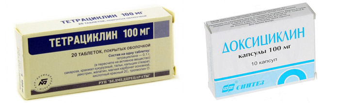 Тетрациклин и Доксициклин