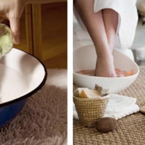 Ванночки для ног с солью