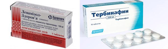 Левамизол и Тербинафин