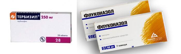 Таблетки Тербизил и Флуконазол