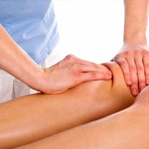 Лечебный массаж при артрозе сустава колена